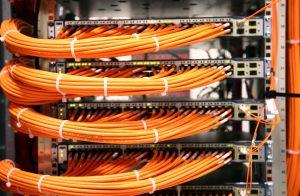 Ex bt engineer installs data cabling
